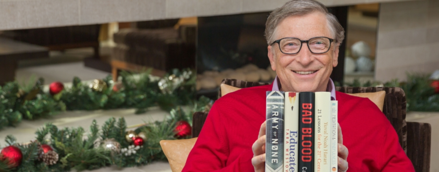 5 Books Bill Gates loved in 2018 which make them a perfect gift for the holiday season!